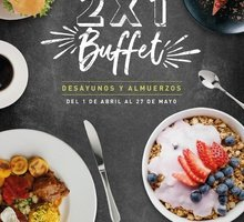 Mondays 2x1 at breakfast and lunch buffets. Only from April ...