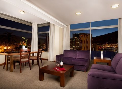 The rooms offer incredible city views.